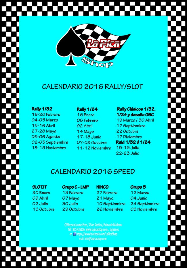 calendario rally speed.ai